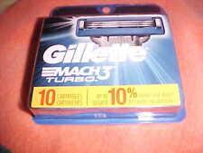 GILLETTE MACH 3 TURBO RAZOR CARTRIDGES 1-10 PACK #3