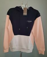 Original Nicce London Navy Oh Hood Mens Gildan Hoodie Pullover Sweat Top Size XS