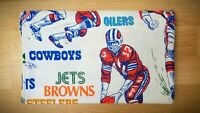 Vintage NFL Sheets (1) TWIN/FULL Size 1960s NFL Teams Sheet RARE!!!