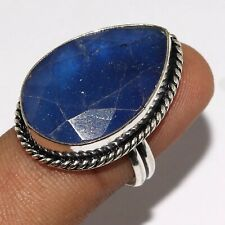 Plated Ring Us 8.5 Mm-37395 Sapphire 925 Silver
