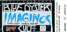 USED TICKET BLUE OYSTER CULT PATRICK RONDAT  N°118 15 02 1984 FRANCE