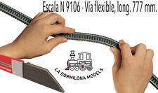 Fleischmann 9106 n flexible vía, 777 mm - 1 unidad - NUEVO