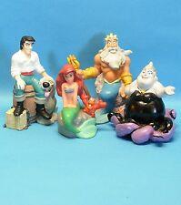 4 Figuren aus : ARIELLE Euro Disney Store Eric Arielle Triton Ursula