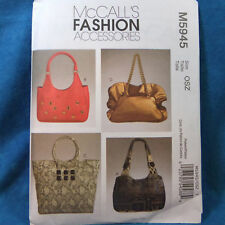 MCcall's 5945 Fashion Accessories 4 Handbag NEW Pattern