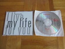 FIREHOUSE I Live My Life For You OOP 1995 EUROPEAN CD single acoustic version