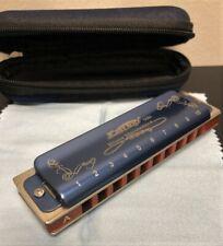 Easttop Blues Harmonica T008K Key Of A 10 Hole 20 Diatonic Tone Color Blue New
