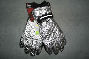 Ladies SwissTech Shiny Quilted Ski Gloves w/ 3M Thinsulate Lining size M/L