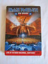IRON MAIDEN EN Vivo! 2012 STEELBOOK EDITION DOUBLE DVD + STICKERS EMI