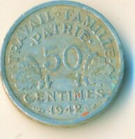 COIN / FRANCE / 50 CENTIMES 1942   #WT7380