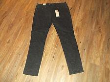 NEW Women's LEVI'S 524 Too Superlow Skinny Black Print Denim Jeans Sz 13M 13 Med
