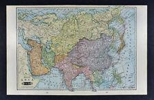 1903 Tunison Map - Asia China Japan India French Indo China Tibet Nepal Siberia
