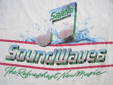 GREAT!! 80s vtg SALEM menthol CIGARETTES promo T SHIRT sound wave 50/50 MEDIUM