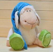 Doll Plush Toy Baby Kids Festival Birthday Gift Blue Nightcap Sleepy Sheep D13