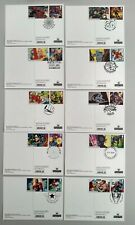 2019 Marvel 10 Character Smilers on 10 PHQ Postcard 10 different postmarks