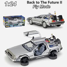 WELLY 1:24 Back to The Future 2 II Fly Version DMC-12 DeLorean Time Machine Car