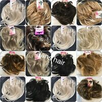 Hair Scrunchie Wrap Synthetic Natural Bun Updo Messy Hairpiece Large Wavy
