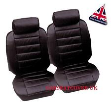 VW CADDY VAN 1996-2004 PREMIUM DELUXE BLACK LEATHER LOOK CAR SEAT COVERS 1-1