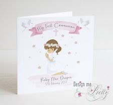 PERSONALISED Girls Holy Communion Card - Daughter Granddaughter Sister Niece