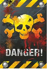 Danger Skullbone Sticker for Bumper Laptop Tablet Fridge Door