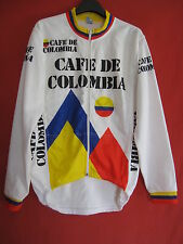 Veste cycliste vintage 90'S Cafe de Colombia Equipe pro jacket Colombie - XL