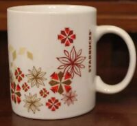 Starbucks Coffee Mug 12 oz Cup Christmas Winter Holiday Red White Gold 2013 NEW
