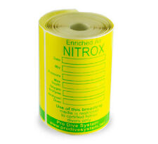 Scuba Diving Small Nitrox Tank Tape Labels Oxygen Content 80 pcs