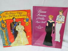 Princess Diana Paper doll book of Fashion & Diana Princess of Whales Paper Dolls