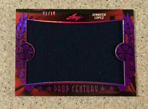 2017 Leaf Pop Century Purple Prop Wardrobe Relic #01/10 Jennifer Lopez Card