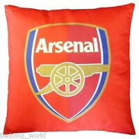 FILLED CUSHION ARSENAL CREST GUNNERS BEDROOM SCATTER RED BLUE LOGO FOOTBALL CLUB