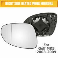 Specchio Specchietto Retrovisore Vetro VW Golf 5 MK5 2003-2008 lato destro