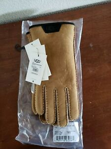 UGG Men's Sheepskin Gloves Chestnut Large NEW!