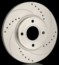 National Drilled and Grooved Brake Discs (Pair) PBD1516D Fits Jaguar
