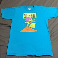 Vintage 90s Scram Race Seattle Washington T-Shirt Large 1990 Made USA Walk Run