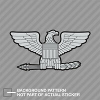 Rank Colonel Eagle Shaped Sticker Decal Vinyl insignia