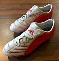 adidas F10+ TRX Silver Red Football Boots (2004) Size: 6 (UK) 39 (EUR) 6.5 (US)