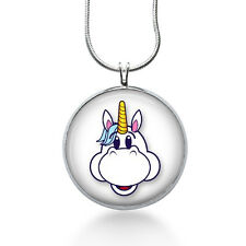 Cartoon Unicorn Necklace - Animal Pendant - Unicorn Jewelry