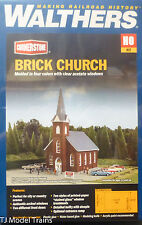 Walthers HO #933-3496 Brick Church (Plastic Kit) We Combine Ship by weight :)