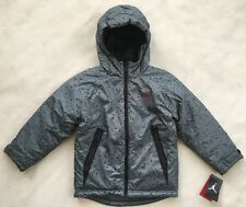NIKE AIR JORDAN Boys Winter Coat Hood Jacket Grey Black Jumpman NWT $105 SIZE 6
