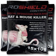 Roshield 45 Rodent Pasta Poison Sachets For Mouse Mice Rat Control - Bait Refill