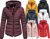 MARIKOO Damen Winter Jacke Parka FVS3 Steppjacke Teddyfell Jacke Kapuze Amber