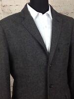 J.CREW Men's Suit Blazer 42 R Gray 3 Button Jacket Sport Coat Wool