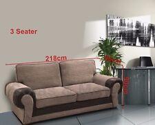 Big Corner Sofa Suite Tango Jumbo Cord Fabric 3 2 Seater Brown 3 Seater