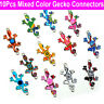 10Pcs Mixed Gecko Connectors Charm DIY Necklace Bracelet Jewelry Making Craft