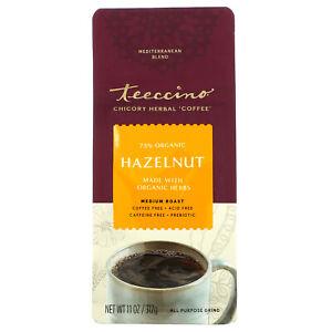 Chicory Herbal Coffee, Hazelnut, Medium Roast, Caffeine Free, 11 oz (312 g)