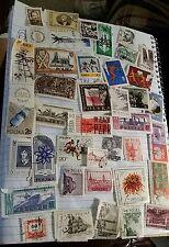 Vintage Stamp Collection POLSKA POSTAL 41 STAMPS USED ASSORTED 1940-1960