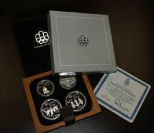 1976 Canada Early Canada Sports Olympic Four Coin Silver Proof Set w/Maple Case