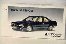 1/18 AUTOART  BMW M 635 CSI , BLUE #70527 , NEW