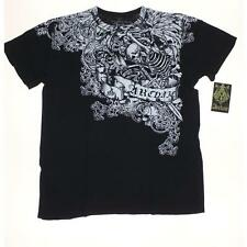 Archaic by AFFLICTION Men's T-Shirt Medium Black White Printed Messy Life LAFO