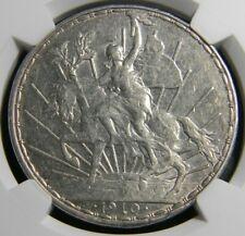 """Mexico Estados Unidos """"Caballito"""" Peso 1910 - NGC AU 53, Mexico City mint, KM453"""