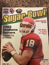 5 2003 Oklahoma Sooners Sugar Bowl Preview Sooners Illustrated Jason White